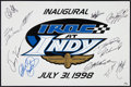 Baseball Cards:Singles (1930-1939), 1998 Inaugural IROC At Indy Drivers Multi-Signed Foam Poster....