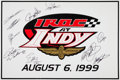 Baseball Cards:Singles (1930-1939), 1999 IROC At Indy Drivers Multi-Signed Foam Poster....