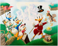 Carl Barks Return to Plain Awful Signed Limited Edition Lithograph Print #220/345 (Another Rainbow, 1989)