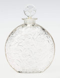 Art Glass:Lalique, An R. Lalique Clear Glass Le Lys Perfume for D'Orsay, circa1922. Marks: R. LALIQUE. 6-7/8 inches high (17.5...