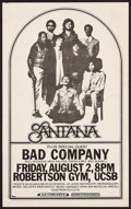"Movie Posters:Rock and Roll, Santana at the Robertson Gym, UCSB (Pacific Presentation, 1974).Concert Poster (14.25"" X 23""). Rock and Roll.. ..."