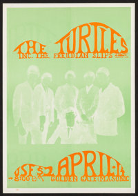 "The Turtles at Golden Gate & Masonic (Unknown, 1960s). Concert Poster (14"" X 20""). Rock and Roll"