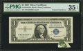 Error Notes:Foldovers, Fr. 1619 $1 1957 Silver Certificate. PMG Choice Very Fine 35 EPQ.....