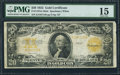 Large Size:Gold Certificates, Fr. 1187 $20 1922 Gold Certificate PMG Choice Fine 15.. ...