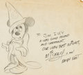 Animation Art:Production Drawing, Ralph Kent - Mickey Mouse Illustration (undated)....