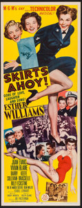 "Movie Posters:Comedy, Skirts Ahoy! (MGM, 1952). Insert (14"" X 36""). Comedy.. ..."