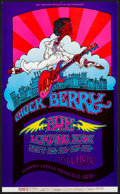 "Chuck Berry, Aum, and The Loading Zone at the Fillmore West (Bill Graham, 1969). Concert Poster #193 (12.75"" X 21.2..."