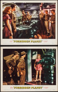 "Movie Posters:Science Fiction, Forbidden Planet (MGM, 1956). Lobby Cards (2) (11"" X 14""). ScienceFiction.. ... (Total: 2 Items)"