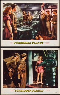"Forbidden Planet (MGM, 1956). Lobby Cards (2) (11"" X 14""). Science Fiction. ... (Total: 2 Items)"