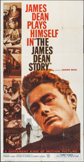 """Movie Posters:Documentary, The James Dean Story (Warner Brothers, 1957). Three Sheet (41"""" X 78.25""""). Documentary. ..."""