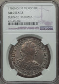 Mexico, Mexico: Charles III 8 Reales 1786 Mo-FM AU Details (SurfaceHairlines) NGC,...