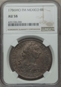 Mexico, Mexico: Charles III 8 Reales 1786 Mo-FM AU58 NGC,...
