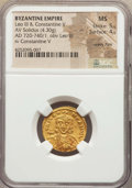 Ancients:Byzantine, Ancients: Leo III the Isaurian (AD 717-741), with Constantine V (AD720-775). AV solidus (4.30 gm)....