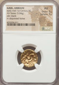 Ancients:Celtic, Ancients: GAUL. Ambiani. Ca. 59-50 BC. AV stater (5.84 gm)....
