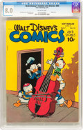 Golden Age (1938-1955):Funny Animal, Walt Disney's Comics and Stories #84 (Dell, 1947) CGC VF 8.0Off-white pages....