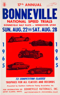 Miscellaneous Collectibles:General, 1965 Bonneville Salt Flats Racing Promotional Poster....