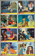 "Movie Posters:Animation, Lady and the Tramp (Walt Disney Productions, R-1960s). British Front of House Color Photo Set of 8 (8"" X 10""). Animation.. ... (Total: 8 Items)"
