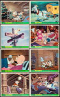 """Movie Posters:Animation, The Wind in the Willows (Walt Disney, R-1960s). British Front ofHouse Color Photo Set of 8 (8"""" X 10""""). Animation.. ... (Total: 8Items)"""