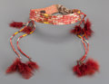 American Indian Art:Beadwork and Quillwork, A Sioux Quilled Hide Headband...