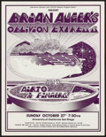 "Movie Posters:Rock and Roll, Brian Auger's Oblivion Express at the University of California SanDiego (California Concerts, 1974). Concert Poster (15"" X ..."