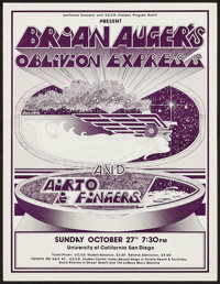 Brian Auger's Oblivion Express at the University of California San Diego (California Concerts, 1974). Concert Poster (15...