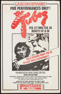 "Movie Posters:Rock and Roll, The Tubes at Pantages Theatre & Other Lot (Pantages Theatre,1978). Concert Posters (2) (13"" X 20"" & 14"" X 22""). Rock andRo... (Total: 2 Items)"