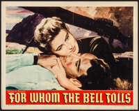 "For Whom the Bell Tolls (Paramount, 1943). Half Sheet (22"" X 28"") Style A. War"