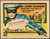 "The Lone Ranger and the Lost City of Gold (United Artists, 1958). Half Sheet (22"" X 28"") Style A. Western"