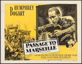 "Movie Posters:War, Passage to Marseille (Dominant, R-1956). Half Sheet (22"" X 28""). War.. ..."