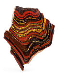 Lapidary Art:Carvings, Tiger Iron Slab. Ord Ranges. Pilbara. Western Australia. 6.46 x4.92 x 0.40 inches (16.40 x 12.50 x 1.01 cm). ...