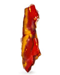 Lapidary Art:Carvings, Polished Mookaite. Mooka Creek. Kennedy Ranges.Western Australia. 10.24 x 3.15 x 4.02 inches (26.00 x8.00 x ...