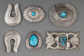 American Indian Art:Jewelry and Silverwork, Five Southwest Silver Jewelry Items ... (Total: 5 Items)