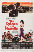 "Movie Posters:Adventure, The Roots of Heaven (20th Century Fox, 1958). One Sheet (27"" X 41"")& Insert (14"" X 36""). Adventure.. ... (Total: 2 Items)"