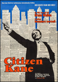 "Citizen Kane (Constantin, R-1962). German A1 (23.25"" X 33.75""). Drama"