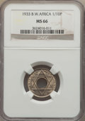 British West Africa, British West Africa: British Colony. George V 1/10 Penny 1933 MS66NGC,...