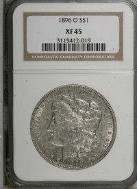 1896-O $1 XF45 NGC. NGC Census: (205/3255). PCGS Population (194/2930). Mintage: 4,900,000. Numismedia Wsl. Price for NG...