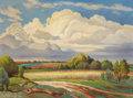 Texas:Early Texas Art - Regionalists, CHARLES BOWLING (1891-1995). Evening Thunder Heads, 1962.Oil on canvas. 18 x 24 inches (45.7 x 61.0 cm). Signed and dat...