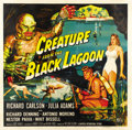"Movie Posters:Horror, Creature From the Black Lagoon (Universal International, 1954). SixSheet (81"" X 81""). ..."