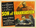 "Movie Posters:Horror, Son of Frankenstein (Universal, 1939). Half Sheet (22"" X 28"")...."