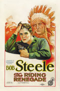 "Movie Posters:Western, The Riding Renegade (FBO, 1928). One Sheet (27"" X 41""). ..."