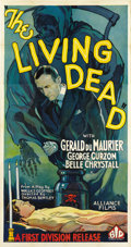 "Movie Posters:Horror, The Living Dead (British International Pictures, 1933). Three Sheet (41"" X 81""). ..."