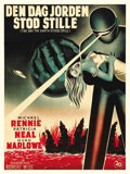 "Movie Posters:Science Fiction, The Day the Earth Stood Still (20th Century Fox, 1951). Danish OneSheet (24"" x 32 7/8"")...."