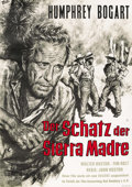 """Movie Posters:Drama, The Treasure of the Sierra Madre (Warner Brothers, R-1950s). GermanA1 (23"""" X 33""""). ..."""