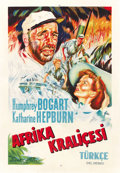 "Movie Posters:Adventure, The African Queen (United Artists, 1952). Turkish Poster (26.5"" X38""). ..."