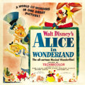 "Movie Posters:Animated, Alice in Wonderland (RKO, 1951). Six Sheet (81"" X 81""). ..."