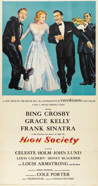 "High Society (MGM, 1956). Three Sheet (41"" X 81"")"