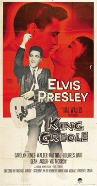 "King Creole (Paramount, 1958). Three Sheet (41"" X 81"")"