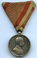Austria, Austria: Franz Joseph I silver Bravery Medal 2nd Class with WarRibbon ND (1914-1916) AU,...