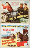 """Movie Posters:Western, Last of the Pony Riders & Others Lot (Columbia, 1953). Half Sheets (4) (22"""" X 28""""). Western.. ... (Total: 4 Items)"""