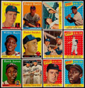 Baseball Cards:Lots, 1958 Topps Baseball Stars & HoFers Collection (19)....